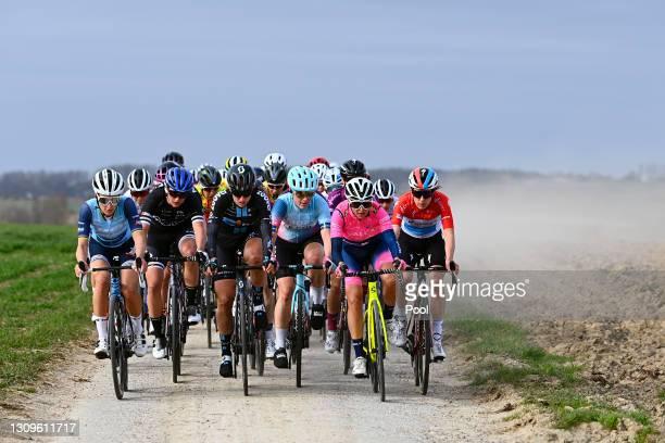 Elisabeth Deignan-Armitstead of United Kingdom and Team Trek - Segafredo, Katia Ragusa of Italy and A.R. Monex Women's Pro Cycling Team, Franziska...