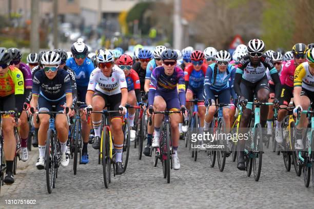 Elisabeth Deignan-Armitstead of United Kingdom and Team Trek- Segafredo, Lisa Brennauer of Germany and Ceratizit – WNT Pro Cycling Team, Hannah...
