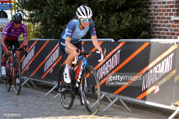 Elisabeth Deignan-Armitstead of United Kingdom and Team Trek- Segafredo & Chantal Van Den Broek - Blaak of Netherlands and Team SD Worx during the...