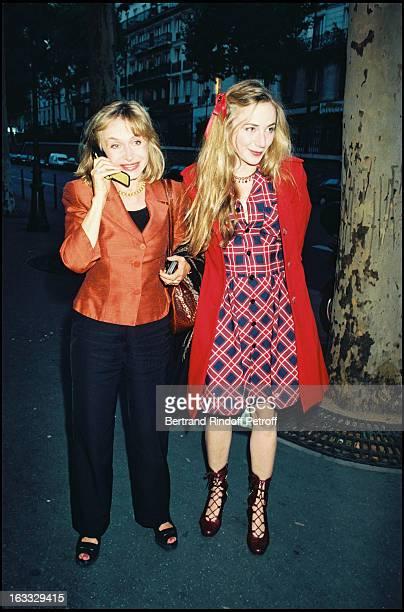 Elisabeth Depardieu and daughter Julie at Les Cotelettes Theatre Production In Paris 1997.