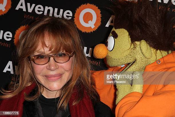 Elisabeth Depardieu attends the 'Avenue Q' The Musical Premiere Photocall at Bobino on February 9 2012 in Paris France