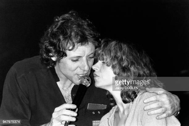 Elisabeth Depardieu et François Bernheim en concert à Bobino le 3 mars 1982 à Paris, France.