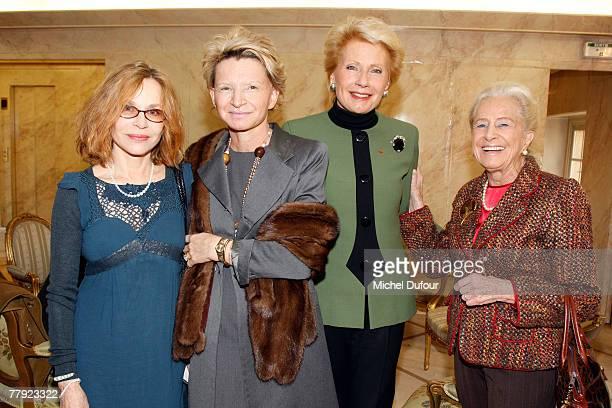 Elisabeth Depardieu, Francoise Jacob, Monique Raymond and Nicole Dassault attend the Daniele Hermann Award at l'Academie francaise on November 14,...
