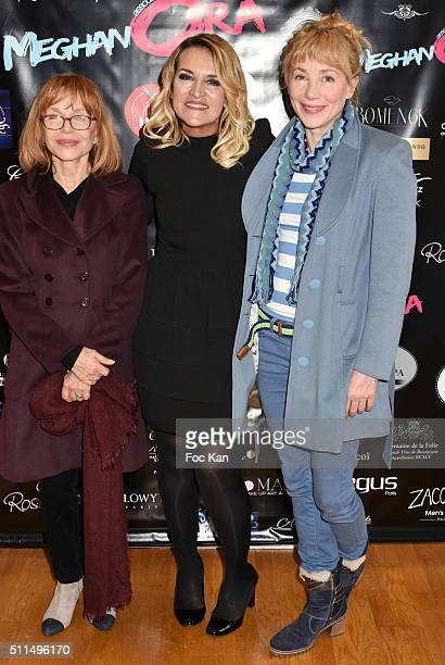Elisabeth Depardieu, Martine Antonioni from Meghanora and Julie Depardieu attend The Meghanora Auction Fashion Show to Benefit Meghanora Children...