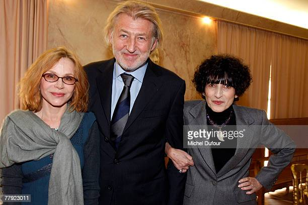 Elisabeth Depardieu, Pierre Gagnaire and Daniele Hermann attend the Daniele Hermann Award at l'Academie francaise on November 14, 2007 in Paris,...