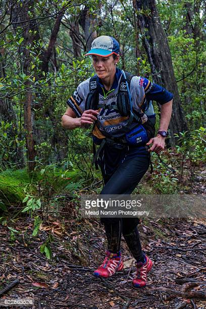 Elisabeth Dornom from Team Peak Adventure hiking up to 'The Castle' in Morton National Park during the Adventure Race World Championship on November...