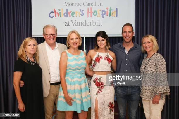 Elisabeth Dykens Stuart Dill Elizabeth Roof Cassadee Pope Tommy Moore and Melita Rippy join ACM Lifting Lives campers during ACM Lifting Lives Music...