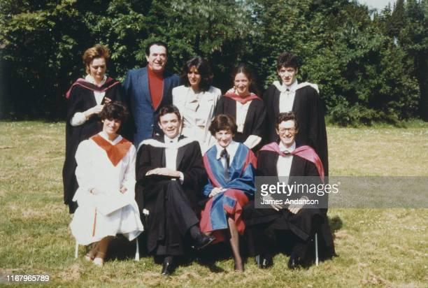 Elisabeth et Robert Maxwell avec leurs enfants Kevin Philip Ian Anne Christine Isabel et Ghislaine Maxwell Cette dernière sera la compagne de Jeffrey...