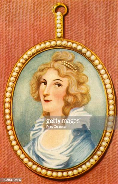 Elisabeth Foster' Portrait of early female British novelist Elizabeth Cavendish Duchess of Devonshire Born Elizabeth Christiana Hervey then Lady...