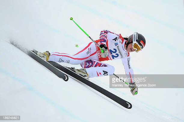 Elisabeth Goergl of Austria takes 2nd place during the Audi FIS Alpine Ski World Cup Women's Downhill on February 18 2012 in Sochi Russia