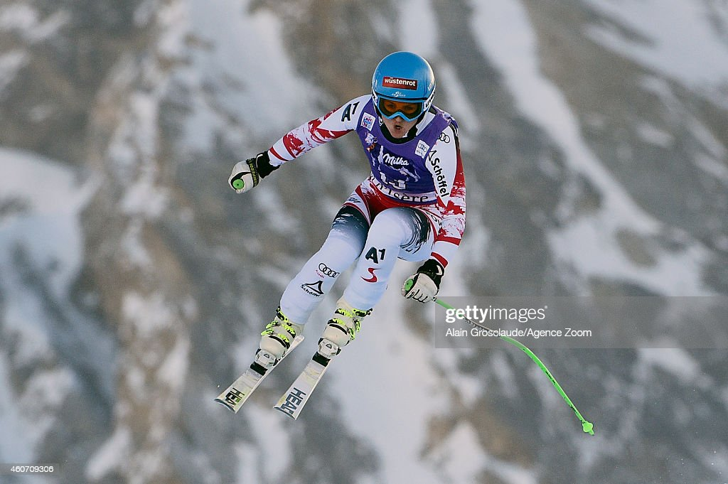 Elisabeth Goergl of Austria takes 2nd place during the Audi FIS Alpine Ski World Cup Women's Downhill on December 20, 2014 in Val d'Isere, France.