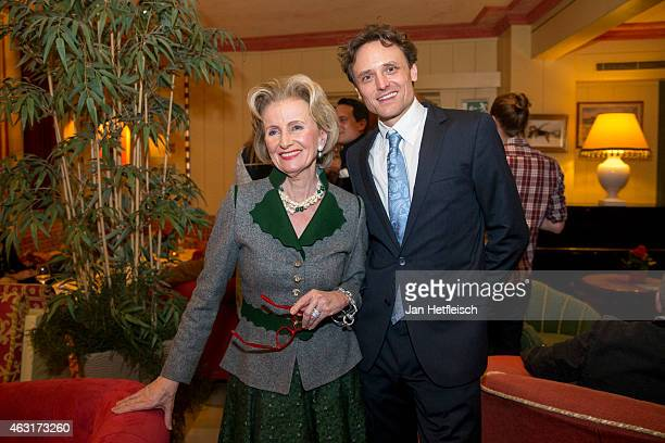 Elisabeth Guertler and eventmanger Juergen Langer pose during 'welcome party' of the Seefelder Kristallzauber 2015 on February 6 2015 in Seefeld in...