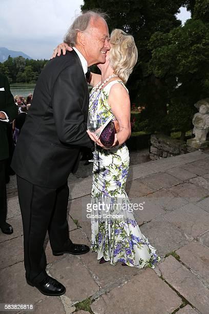Elisabeth Guertler and Leopold Wedl during the ISA gala at Schloss Leopoldskron on July 27 2016 in Salzburg Austria