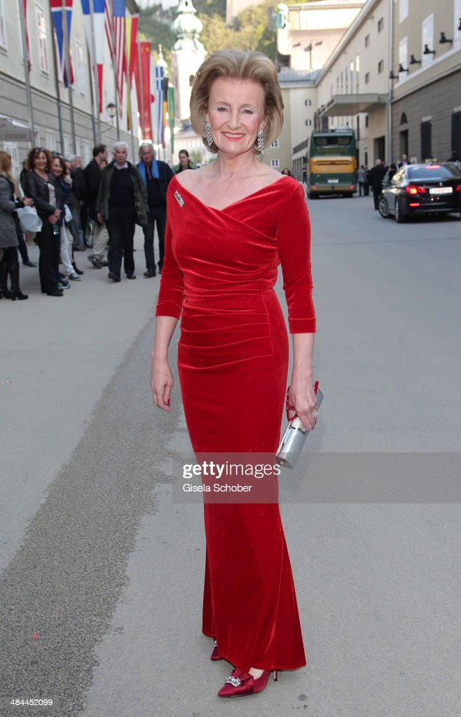 Elisabeth Guertler attends the opening of the easter festival 2014 (Osterfestspiele) on April 12, 2014 in Salzburg, Austria.