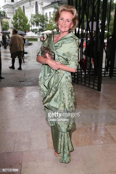 Elisabeth Guertler during the 'Aida' premiere during the Salzburg Opera Festival 2017 on August 6 2017 in Salzburg Austria