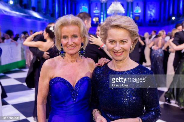 Elisabeth Guertler German Defence Minister Ursula von der Leyen during the Fete Imperiale 2018 on June 29 2018 in Vienna Austria
