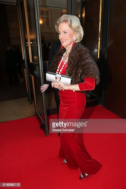Elisabeth Guertler Hotel Sacher during the opening of the easter festival 2016 'Otello' premiere on March 19 2016 in Salzburg Austria