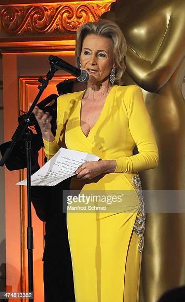 Elisabeth Guertler speaks on stage during the ROMY 2015 Academy Award at Hofburg Vienna on April 23 2015 in Vienna Austria
