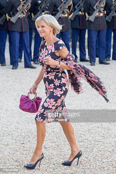 Elisabeth Guigou arrives at the Elysee Palace for a state dinner on September 3 2013 in Paris France The German President is in France for a 3 day...