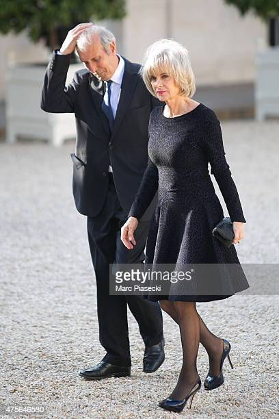 Elisabeth Guigou arrives at the State Dinner offered by French President François Hollande at the Elysee Palace on June 2 2015 in Paris France