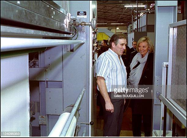Elisabeth Guigou in the Ariege region In Lavelanet France On January 162001 The French Labor Minister visits the Avelana textile plant