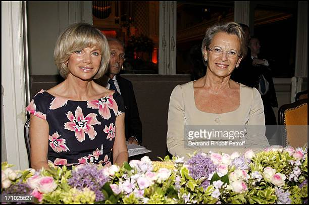 Elisabeth Guigou Michele Alliot Marie at 25th Gala Of Association L'Aide Aux Enfants Refugies To Help Children In Cambodia At Salle Gaveau In Paris
