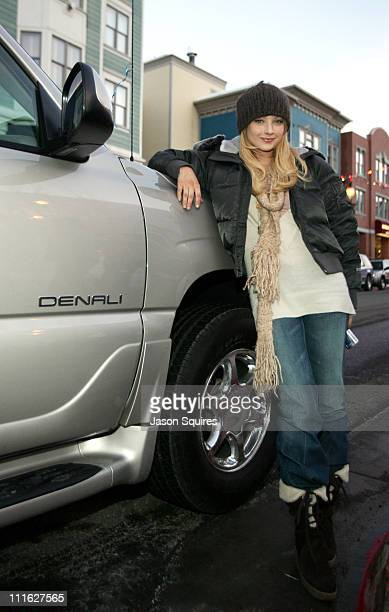 Elisabeth Harnois arrives in a GMC Yukon Denali XL GM the official automotive sponsor of the Village At The Lift is providing luxury transportation...
