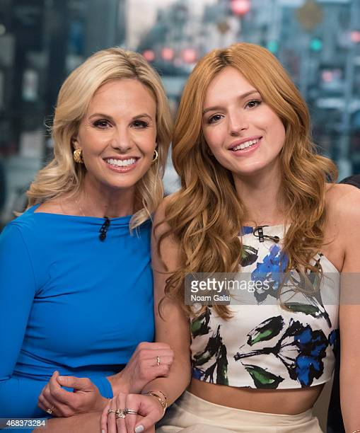 Elisabeth Hasselbeck and actress Bella Thorne attend 'Fox Friends' at FOX Studios on April 2 2015 in New York City