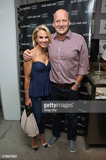 Elisabeth Hasselbeck and Tim Hasselbeck attend the Alex and Ani CHARMED BY CHARITY event and bangle launch party to celebrate the partnership with...