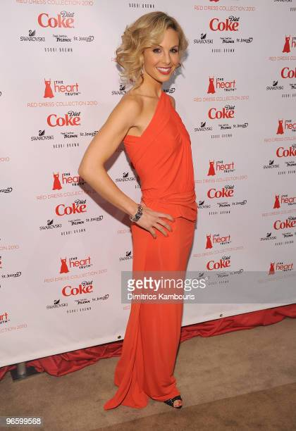 Elisabeth Hasselbeck attends backstage during The Heart Truth Red Dress Collection Fall 2010 during MercedesBenz Fashion Week at Bryant Park on...