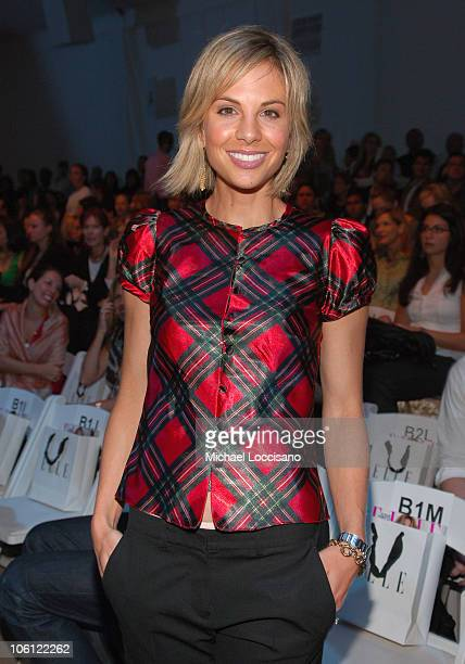 Elisabeth Hasselbeck during Olympus Fashion Week Spring 2007 Project Runway Season 3 Finale Front Row at Bryant Park in New York City New York United...