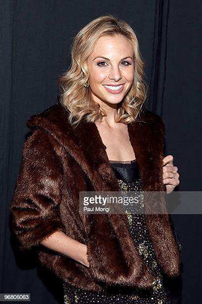 Elisabeth Hasselbeck poses backstage at Milly By Michelle Smith Fall 2010 during MercedesBenz Fashion Week at Bryant Park on February 17 2010 in New...