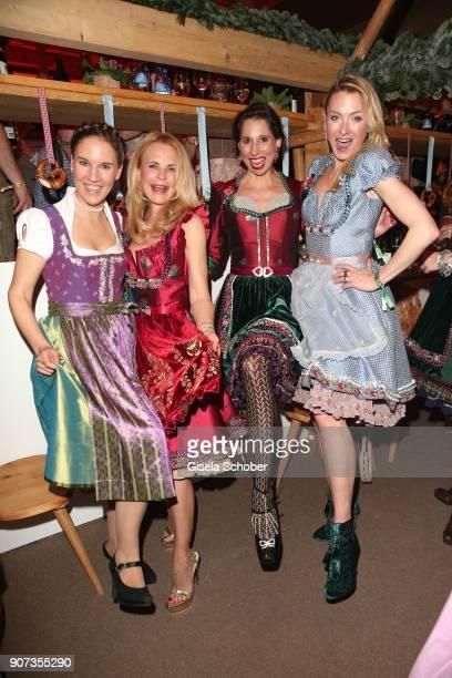 Elisabeth Hauser fashion designer Sonja Kiefer Lola Paltinger Lilly zu SaynWittgensteinBerleburg during the 27th Weisswurstparty at Hotel Stanglwirt...