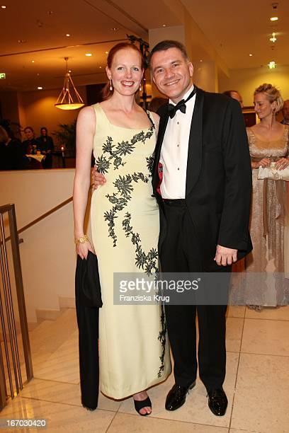 Elisabeth Herzogin In Bayern Und Ehemann Dr Daniel Terberger Bei Der Verleihung Des B'Nai B'Rith Europe Award Of Merit Im Mariott Hotel In Berlin Am...