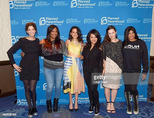 Elisabeth Holm Deidre Roper Jenny Slate Cheryl James and Gillian Robespierre attend the 2015 Planned Parenthood Gala at The Washington Hilton on...