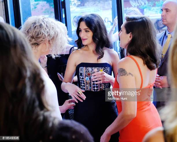Elisabeth Holm Jenny Slate and Gillian Robespierre attends the Landline New York Premiere at The Metrograph on July 18 2017 in New York City