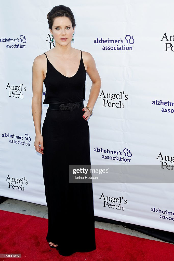 Elisabeth Hower attends the Alzheimer's Association and Scrappy Cat Productions premiere of 'Angel's Perch' at Laemmles Royal Theatre on July 17, 2013 in Los Angeles, California.