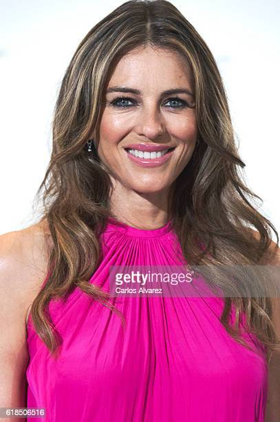 Elisabeth Hurley attends AECC Cancer Association meeting at the Palace Hotel on October 27 2016 in Madrid Spain