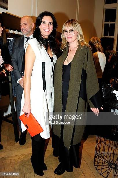 Elisabeth JonesHennessy and Tatijana Shoan attend the Sportmax and AS IF Magazine with Maria Giulia Maramotti and Tatijana Shoan celebrate Sportmax...