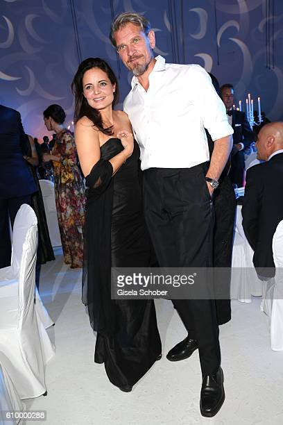 Elisabeth Lanz and Goetz Otto during the 70th anniversary of Arthur Brauner's CCC Film Studios on September 23 2016 in Berlin Germany