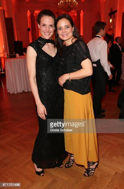 Elisabeth Lanz and her sister Barbara Lanz during the ROMY award at Hofburg Vienna on April 22 2017 in Vienna Austria