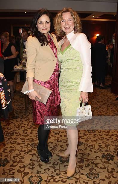 Elisabeth Lanz and Marion Kracht attend the Felix Burda Award Gala 2011 at Hotel Adlon on April 10 2011 in Berlin Germany