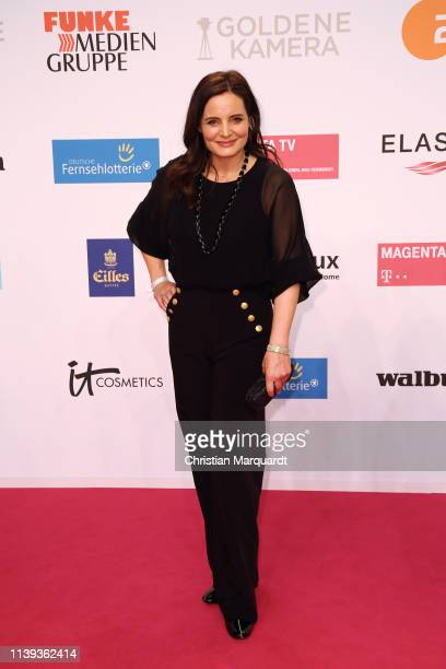 Elisabeth Lanz attends the Goldene Kamera at Tempelhof Airport on March 30, 2019 in Berlin, Germany.