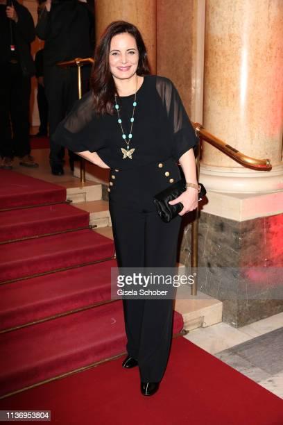 Elisabeth Lanz during the ROMY award at Hofburg Vienna on April 13, 2019 in Vienna, Austria.