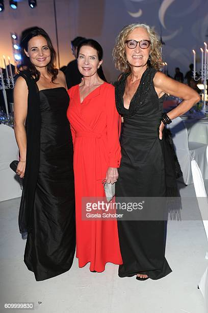 Elisabeth Lanz, Gudrun Landgrebe and Eleonore Weissgerber during the 70th anniversary of Arthur Brauner's CCC Film Studios on September 23, 2016 in...