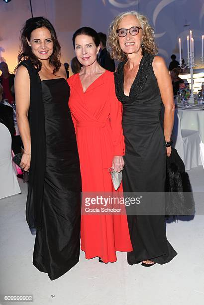 Elisabeth Lanz Gudrun Landgrebe and Eleonore Weissgerber during the 70th anniversary of Arthur Brauner's CCC Film Studios on September 23 2016 in...