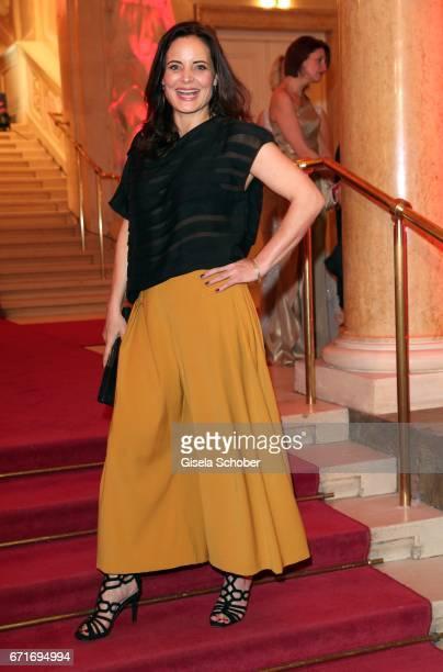 Elisabeth Lanz wearing an outfit by Nobieh Talaeii during the ROMY award at Hofburg Vienna on April 22, 2017 in Vienna, Austria.