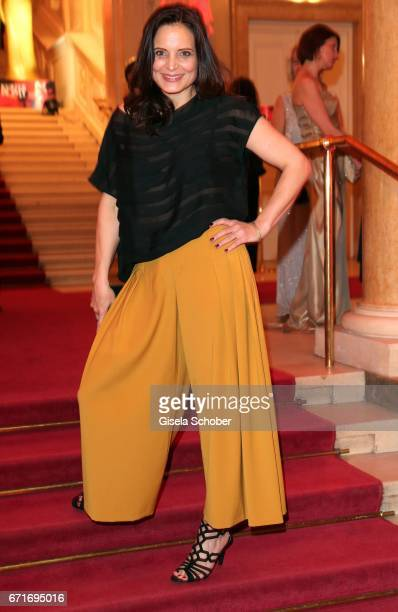 Elisabeth Lanz wearing an outfit by Nobieh Talaeii during the ROMY award at Hofburg Vienna on April 22 2017 in Vienna Austria