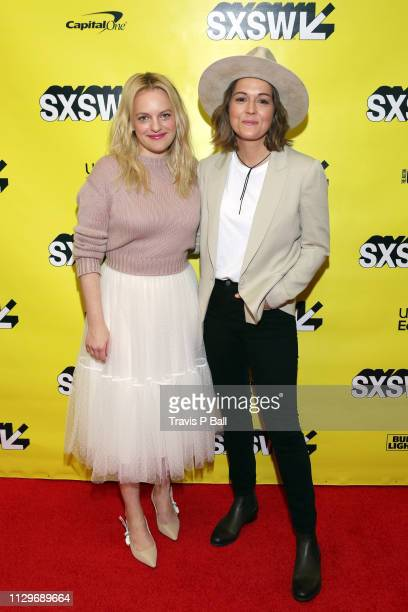 Elisabeth Moss and Brandi Carlile attend Featured Session Elisabeth Moss with Brandi Carlile during the 2019 SXSW Conference and Festivals at Austin...