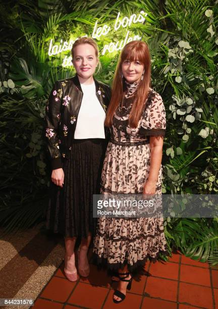 Elisabeth Moss and Deborah Lloyd attend Kate Spade Presentation during New York Fashion Week on September 8 2017 in New York City